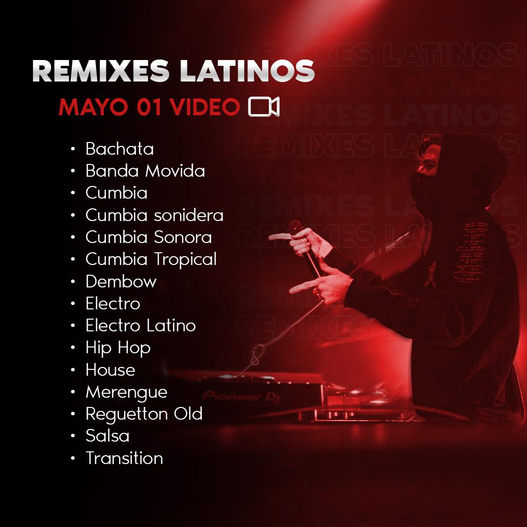 Imagen de Remixes Latinos Mayo 01 Video