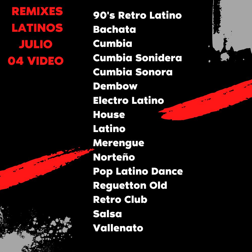 Imagen de Remixes Latinos Julio 04 Video
